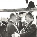 ألكسي كوسيجين في وداع رئيس مجلس الوزراء المصري عزيز صدقي بمطار فنوكوفا بعد الانتهاء من زيارته لموسكو 13 يوليو 1972