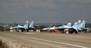 مجموعة من الطائرات الروسية بقاعدة حميميم